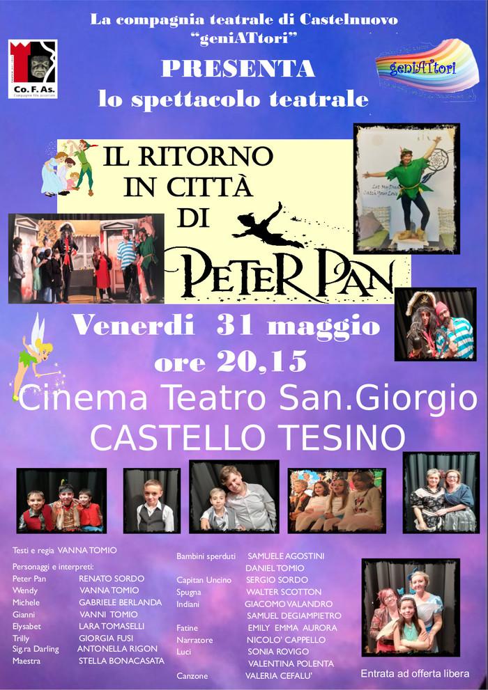 Il ritorno in città di Peter Pan - locandina