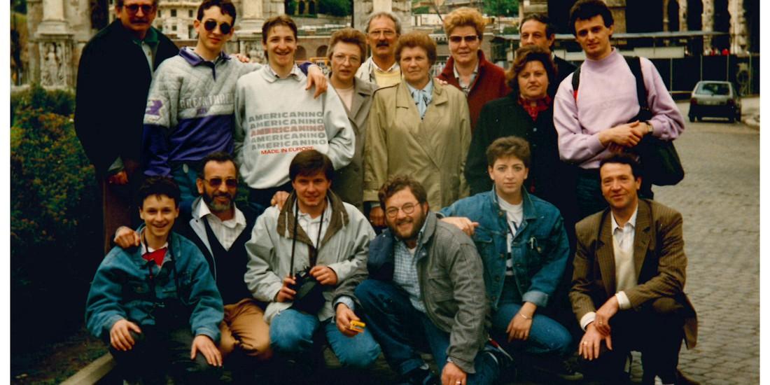 Foto di gruppo - gita a Roma (1989)
